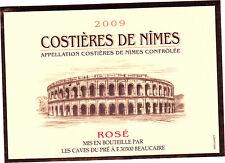 Etiquette de vin - Costières de Nimes - Rosé - 2009