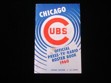 1960 Chicago Cubs Official Spring Edition Media Guide VG
