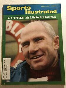 1965 Sports Illustrated NEW YORK Giants YA TITTLE My Life In Pro Football FREE/S