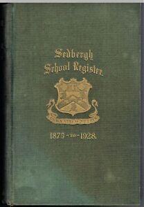 Sedbergh School Register 1875-1928