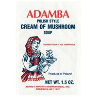 Adamba Polish Style Cream of Mushroom Soup Mix (3-Pack) Free Shipping USA Seller