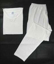 One New Pure Silk Knit Women Underwear Long Johns Set US 10 PINK