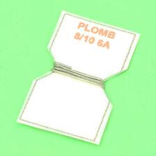 10 cm DE FIL DE PLOMB FUSIBLE 8/10° 6A POUR PORTE-FUSIBLE PORCELAINE VINTAGE