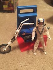 Vintage Evel Knievel Chopper With Gyro Launcher And Figure