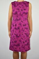 White Stuff Pencil Dress Fuchsia Pink Cotton Summer Eclectic Holiday Size 12 AP