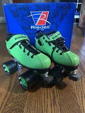 Riedell Dart Green & Black Quad Roller Speed Derby Skates Size 3