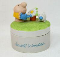 "Vintage Ziggy And Fuzz Porcelain Trinket Box ""Small Wonders"" 1982"