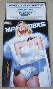 MARAUDERS 4 MIKE MAYHEW SIGNED COA WHITE QUEEN TRADE DRESS VARIANT-A X-MEN HOT!