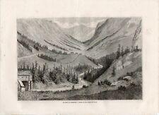 Stampa antica VESTFJORDALLEN Telemark Norway Dorè 1862 Antique antikk print