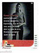 PUBLICITE ADVERTISING 116  2001  Pioneer   le lecteur dvd chaine NS-DV 55