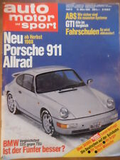 AUTO MOTOR UND SPORT 12.3. - 6/1988 Porsche 911 Allrad Lister-Jaguar BMW Touring
