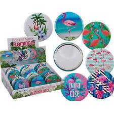 compact Flamingo poche miroir sac à main maquillage produits de beauté voyage