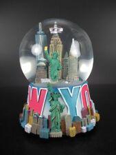 New York große Schneekugel 14 cm mit Spieluhr,Freedom Tower,Freiheitsstatue ....