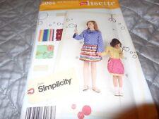 SIMPLICITY PATTERN LITTLE LISETTE CHILD&GIRL SKIRT, BLOUSE K5,7,8,10,12,14 2064
