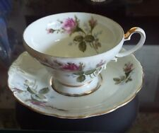 ALADDIN FINE CHINA  MOSS ROSE PATTERN CUP & SAUCER MADE IN OCCUPIED JAPAN