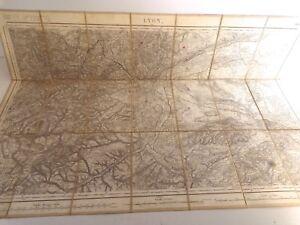 Plan Carte d'état-major, LYON  168 (Bourg) 1841