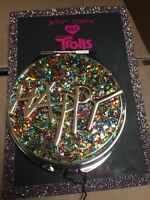 "$35 Betsey Johnson XOX Trolls Rainbow Mirror ""HAPPY"" Compact - 1F"