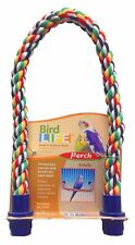 "Penn-Plax Rope Perch Small Bird 21"" x 5/8"" Diameter Perch Soothes & Exercises"