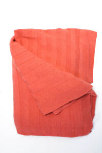 Designer Womens Cashmere Full Throw Blanket Salmon Pink