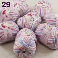 Sale lot 8 Skeins x50g Cashmere Silk Wool Children hand knitting Crochet Yarn 29