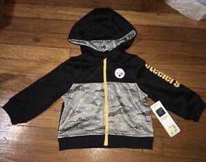NWT Boys PITTSBURGH STEELERS Zip Hooded Jacket 18 Months NFL Team Gerber
