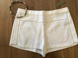 J. CREW White Ivory Tapestry Design Dress Shorts Size 10 New With Tags msrp $70