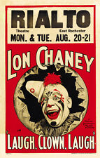 "Lon Chaney Laugh, Clown, Laugh Movie Poster Replica 13x19"" Photo Print"
