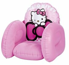 Hello Kitty Flocked Inflatable Chair / Girls Chair - New