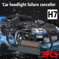2pcs H7 coche LED decodificador faro Canbus Error Resistor cancelador