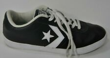 Converse All-Star Unisex Sz Mens 10 Womens 11.5 Black Leather Low Top Sneakers