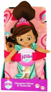 Nickelodeon Nella The Princess Knight Throw Blanket and Character Pillow Set