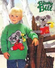 BLINKY BILL koala 28cm & jumper / 8ply or DK - COPY toy knitting pattern