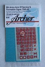 Archer 1/35 British 8th Army AOS & Formation Signs 1940-1942 #4 (6mm) AR35070.6