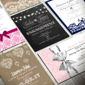 Personalised Engagement Invitations • Party Invites • Inc Free Envelopes