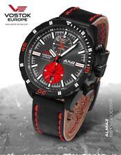 Wristwatches Vostok Europe Almaz chrono-red / PVD incl. 2 Watch Straps