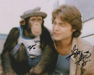 "SALE!  Greg Evigan signed 10"" x 8"" photograph - B.J. and the Bear - Q057"