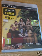 NAT GEO QUIZ! WILD LIFE NATIONAL GEOGRAPHIC (PS3) BRAND NEW & SEALED