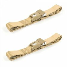 Ford Fairlane 1960 - 1961 Standard 2pt Tan Lap Bucket Seat Belt Kit - 2 Belts