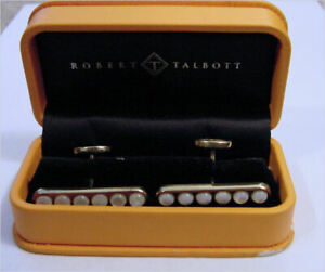 Vintage ROBERT TALBOTT hallmarked Sterling Cufflinks in Original Box - NR