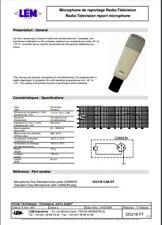 Microphone LEM DO21b en parfait état de fonctionnement et esthétique