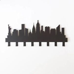 Appendiabiti salvaspazio moderno da parete muro New York design Arti e Mestieri