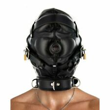 Strict Leather Sensory Deprivation Hood Mask Bondage Medium Large Kinky Adult Di