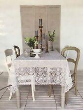 """""""Kersten"""" Tablecloth Deko Shabby Chic Vintage  Weiß 137x180cm Tischdecke"""