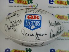 Quarterback Legends - Autographed Full Size Wilson football with 18 autographs