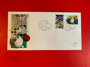 NETHERLANDS 1986 FDC 238 BILLIARDS & CHECKERS WHITE BALL SNOOKER BOARD GAME