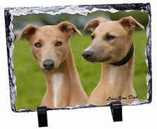 Whippet Dogs 'Love You Dad' Photo Slate Christmas Gift Ornament, DAD-134SL