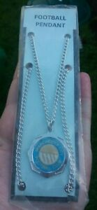 MANCHESTER CITY FOOTBALL CLUB VINTAGE 1970'S NECKLACE FOOTBALL PENDANT