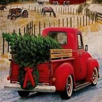 Merry Christmas Red Truck with Gifts Double Sided Winter Gifts Garden Decor
