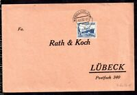 Germany 1937 25pf & 15pf on Postal History Cover to Lubeck WS14295