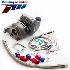 T3/T4 T04E .57 A/R HYBIRD STAGE3 TURBO FOR FIREBIRD TRANS AM + FEED RETURN LINE